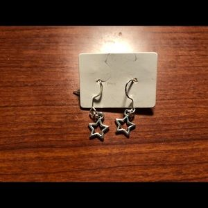ST⭐️R Dangling Earrings, Sterling Silver OS